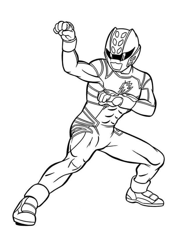 Desenhos de Power Ranger 10 para colorir