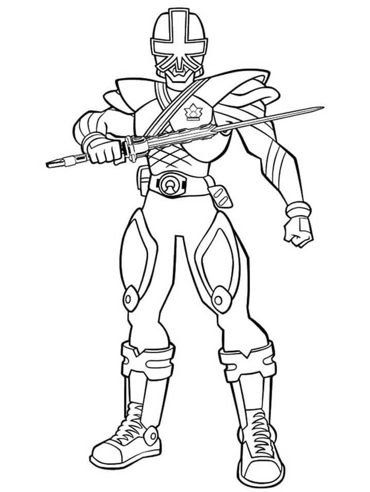 Desenhos de Power Ranger 12 para colorir