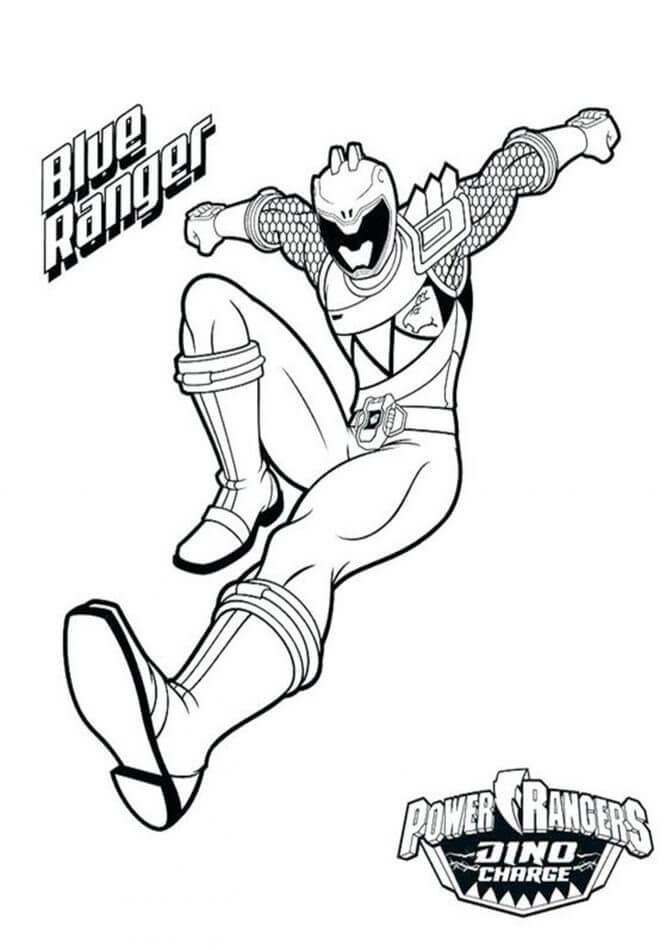 Desenhos de Power Ranger 13 para colorir