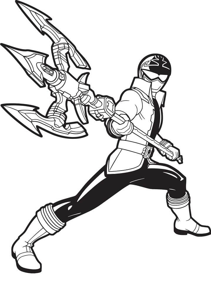 Desenhos de Power Ranger 4 para colorir