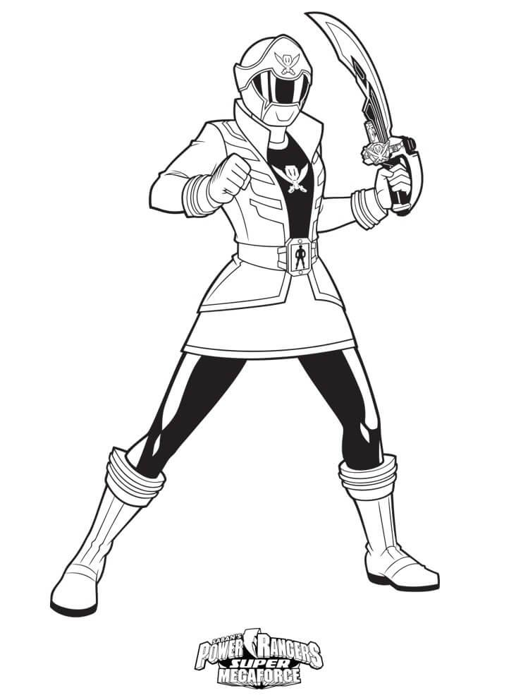 Desenhos de Power Ranger 6 para colorir