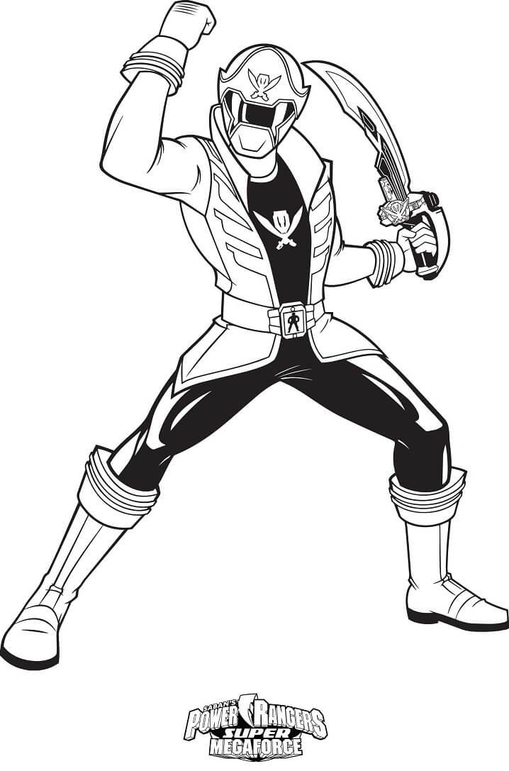 Desenhos de Power Ranger 7 para colorir