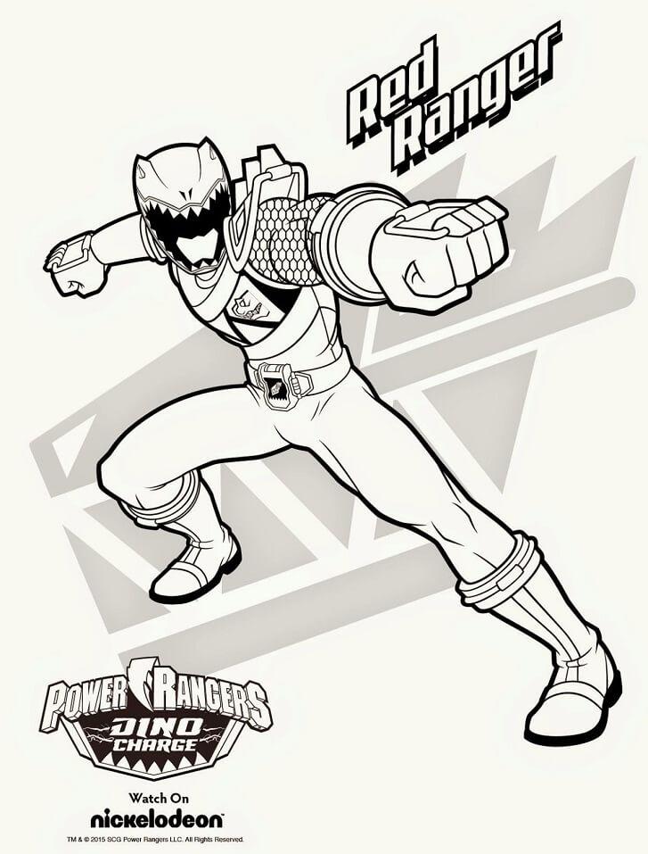 Desenhos de Power Ranger 9 para colorir