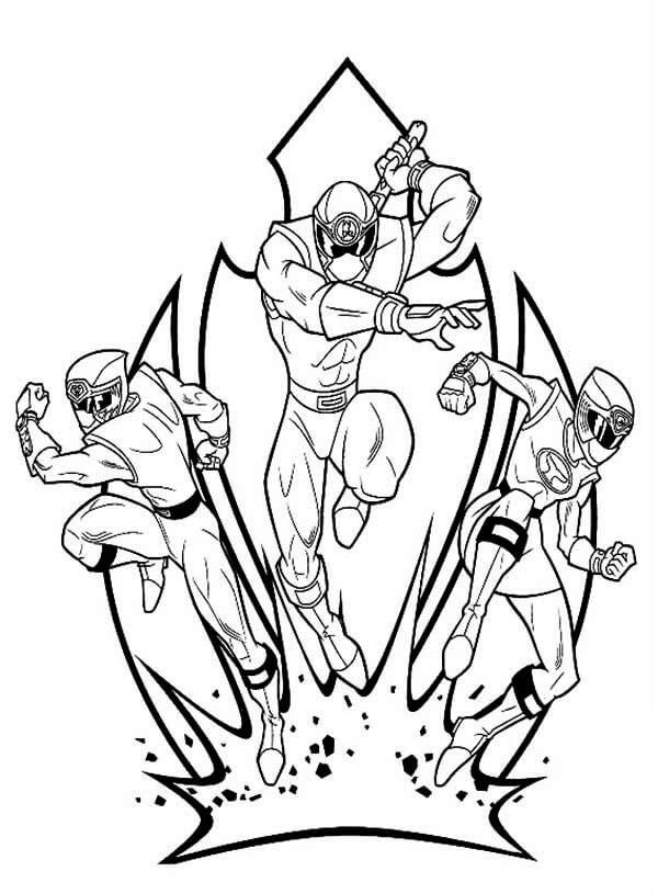 Power Rangers para Colorir