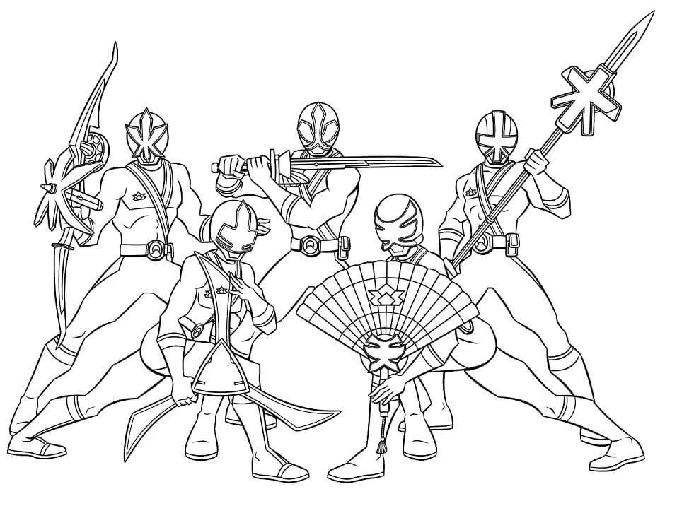 Desenhos de Power Rangers 2 para colorir