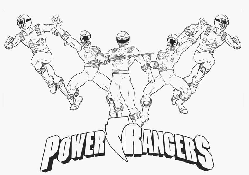 Desenhos de Power Rangers 3 para colorir