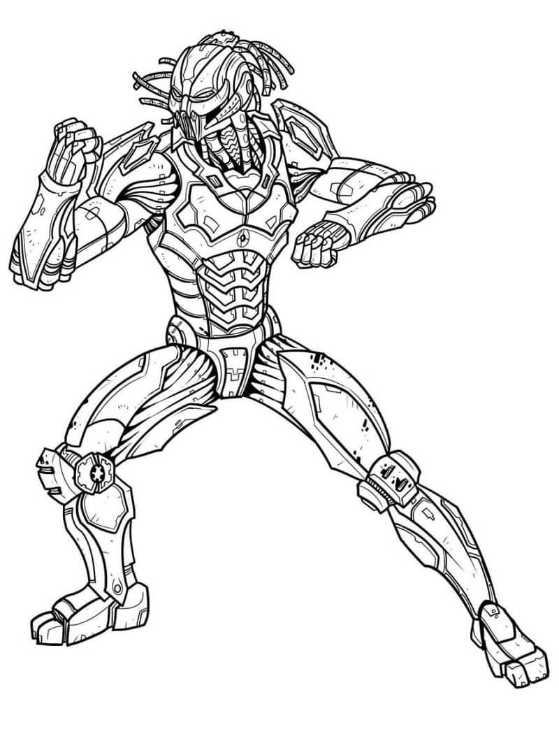 Desenhos de Predator Mortal Kombat para colorir
