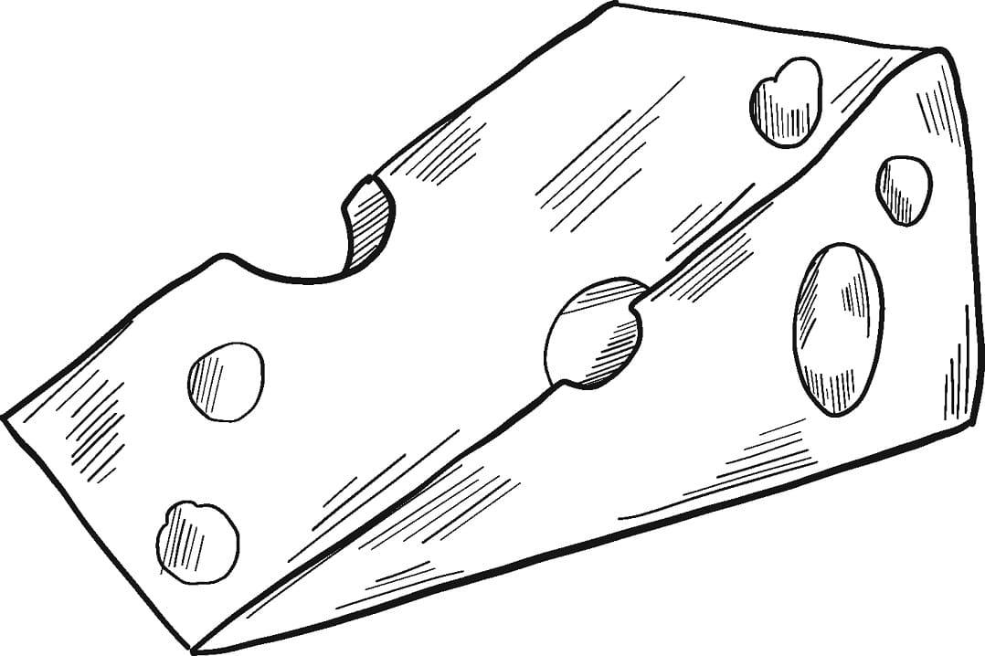 Desenhos de Queijo Delicioso 3 para colorir