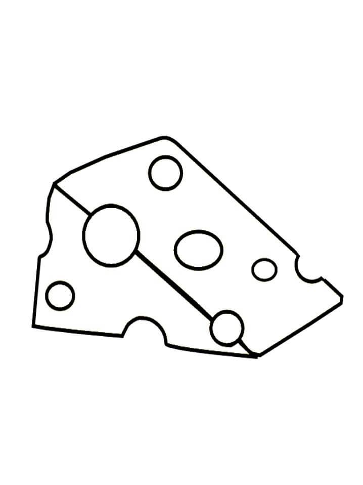 Desenhos de Queijo Delicioso 5 para colorir