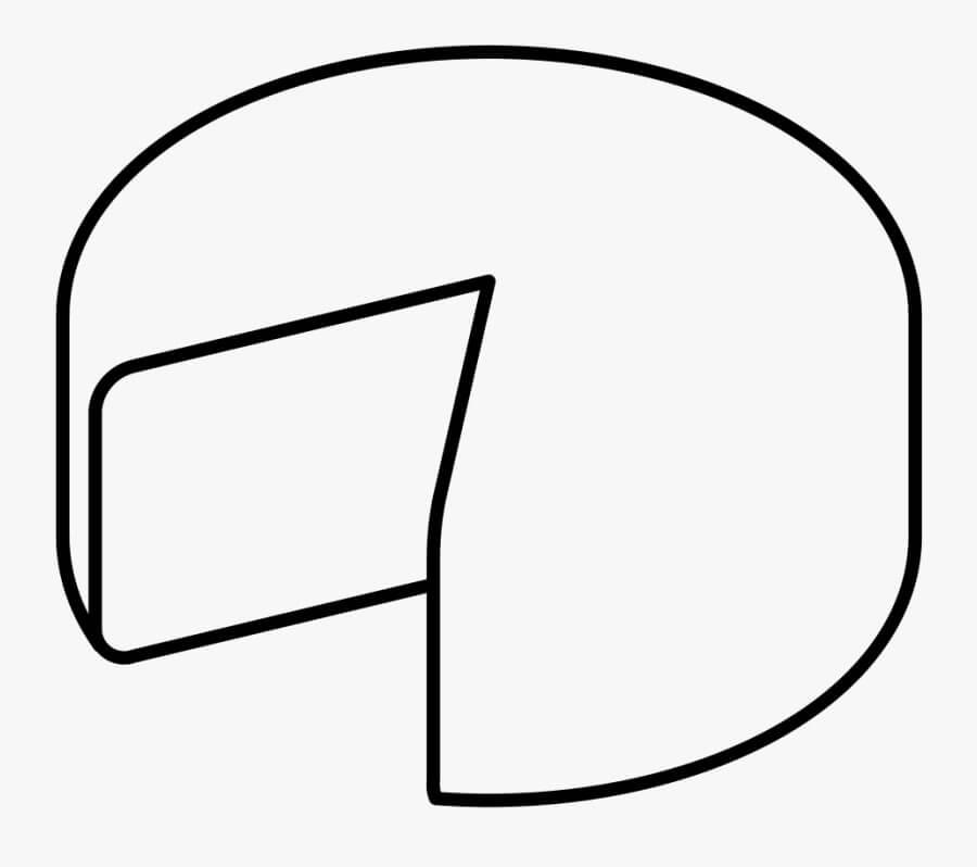 Desenhos de Queijo Saboroso 2 para colorir