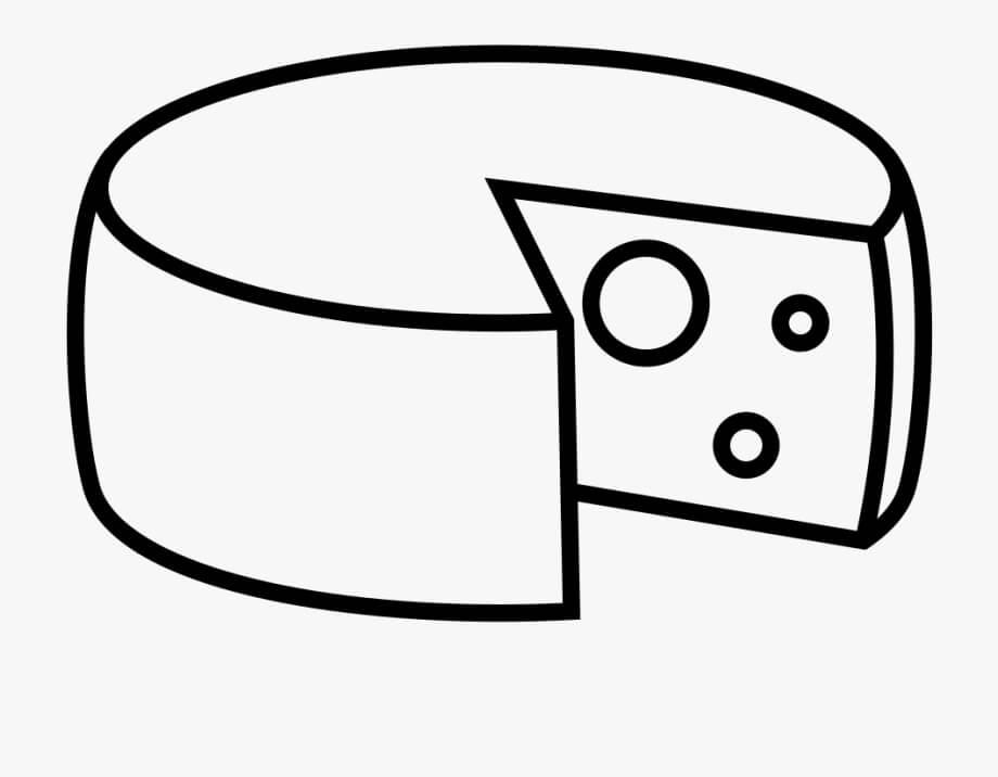 Desenhos de Queijo Saboroso 3 para colorir