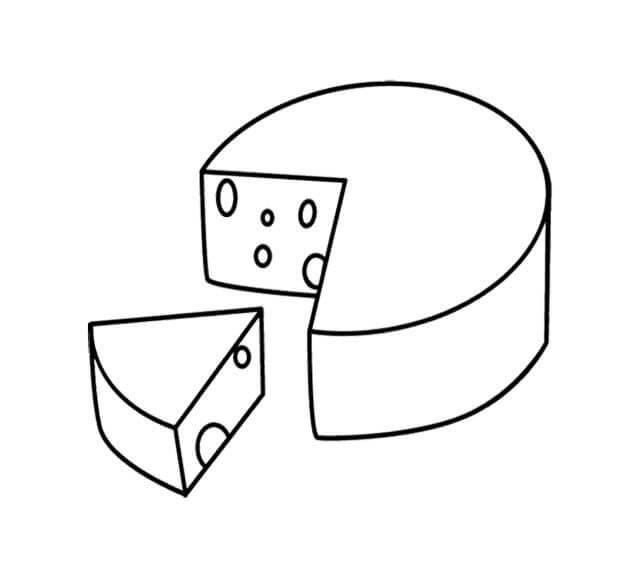 Desenhos de Queijo Saboroso 4 para colorir