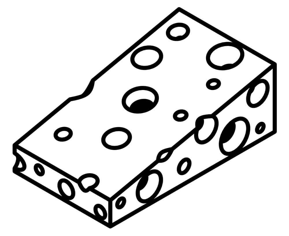 Desenhos de Queijo Saboroso 5 para colorir