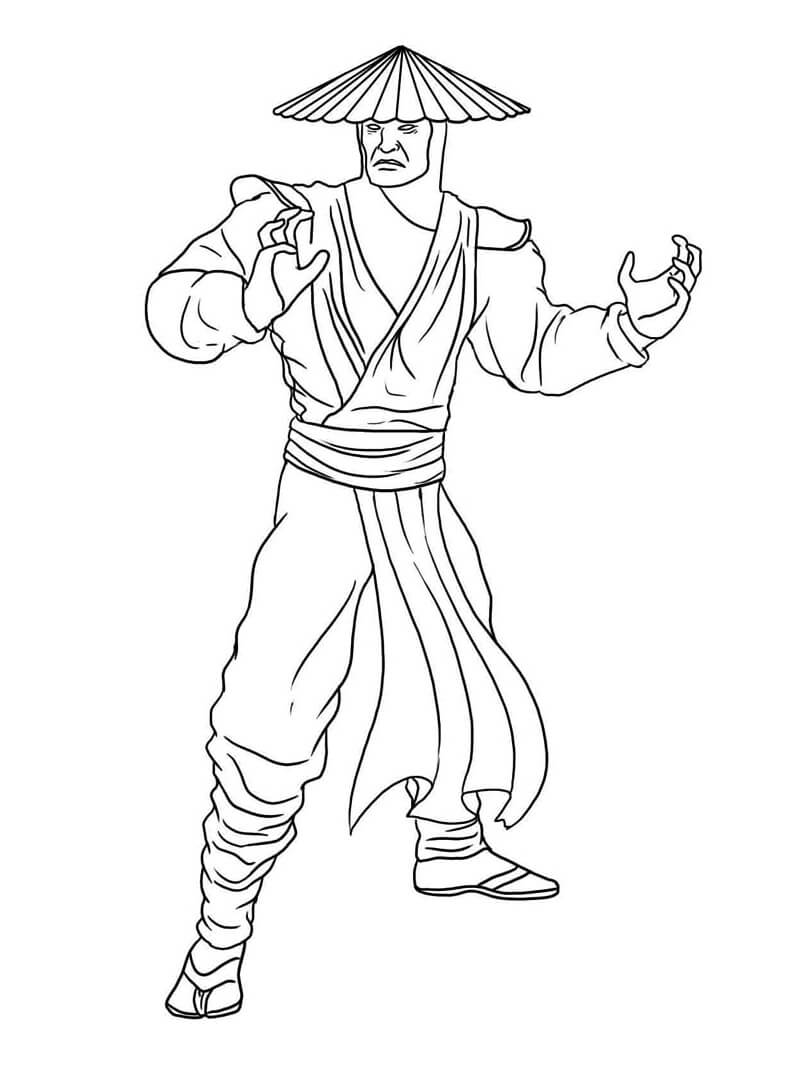 Desenhos de Raiden Mortal Kombat para colorir