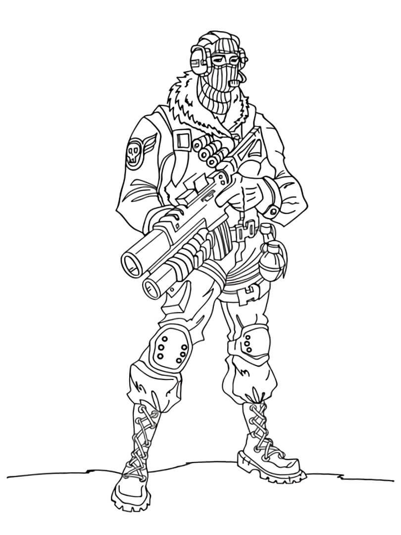 Desenhos de Raptor Fortnite para colorir