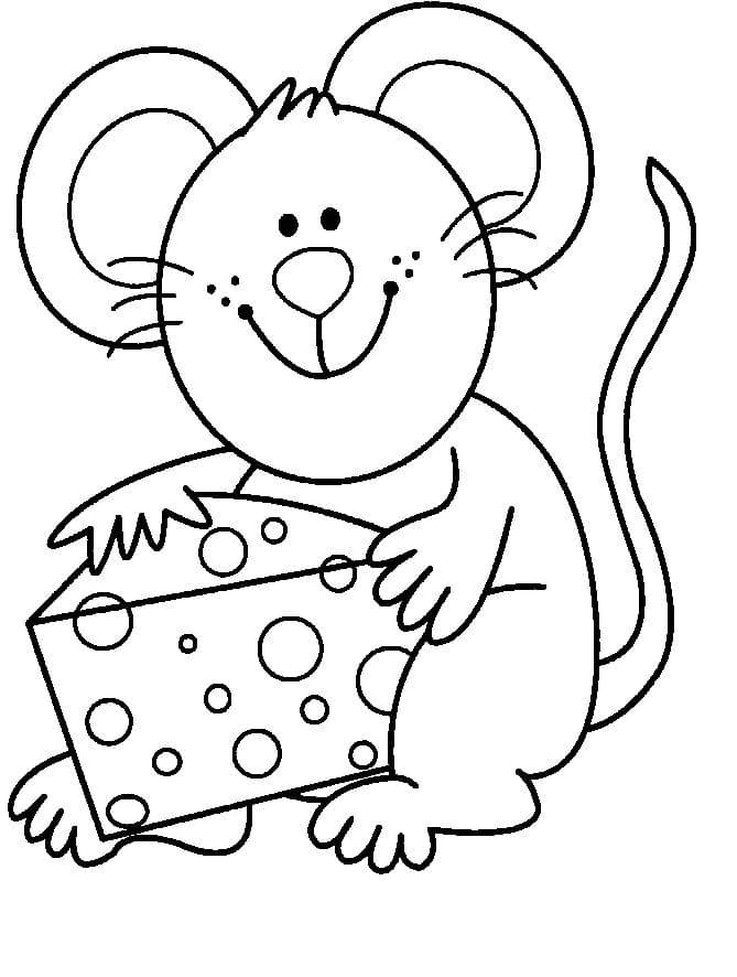 Desenhos de Rato e Queijo 1 para colorir