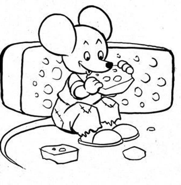 Desenhos de Rato e Queijo 5 para colorir