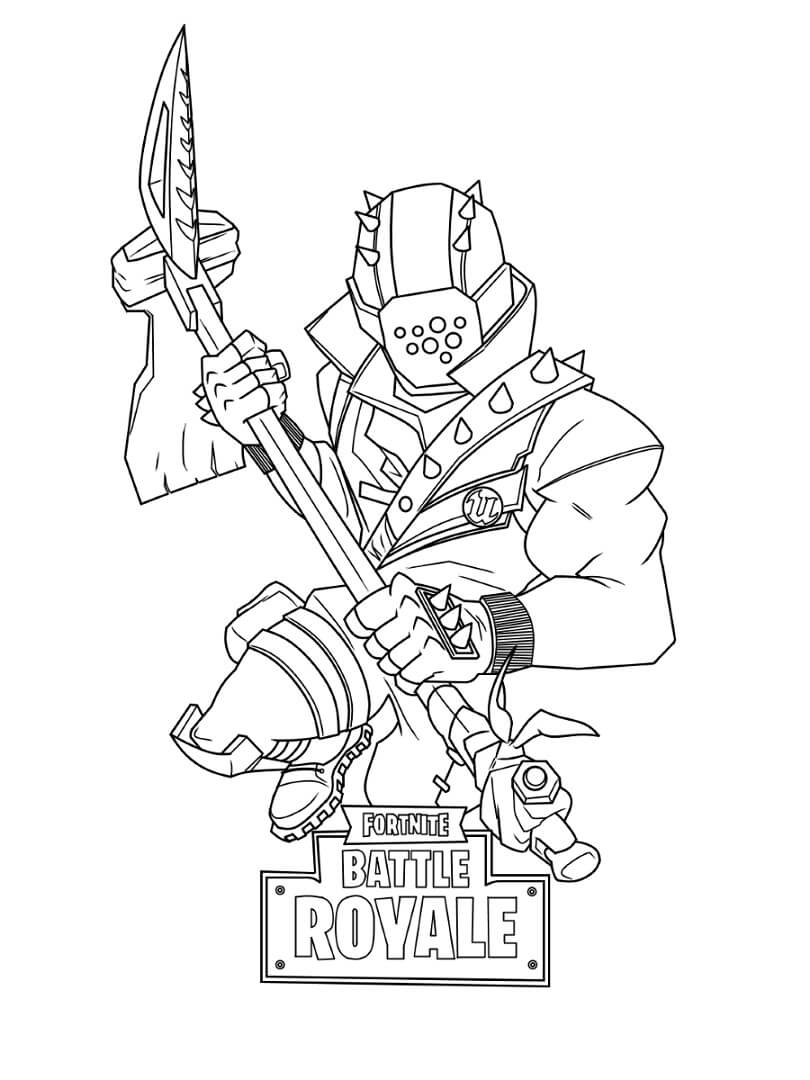 Desenhos de Rust Lord Fortnite para colorir