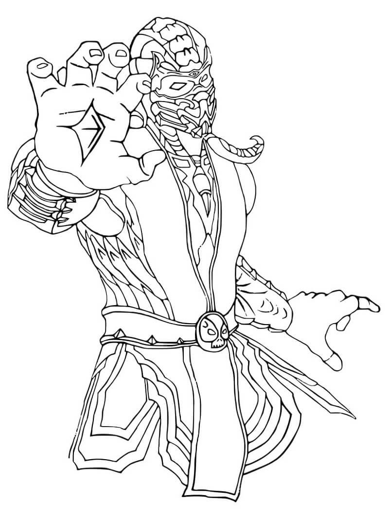 Desenhos de Scorpion Mortal Kombat para colorir