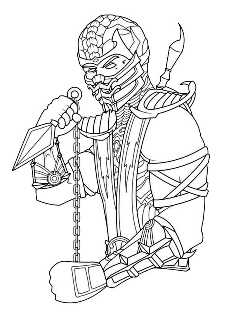 Desenhos de Scorpion para colorir