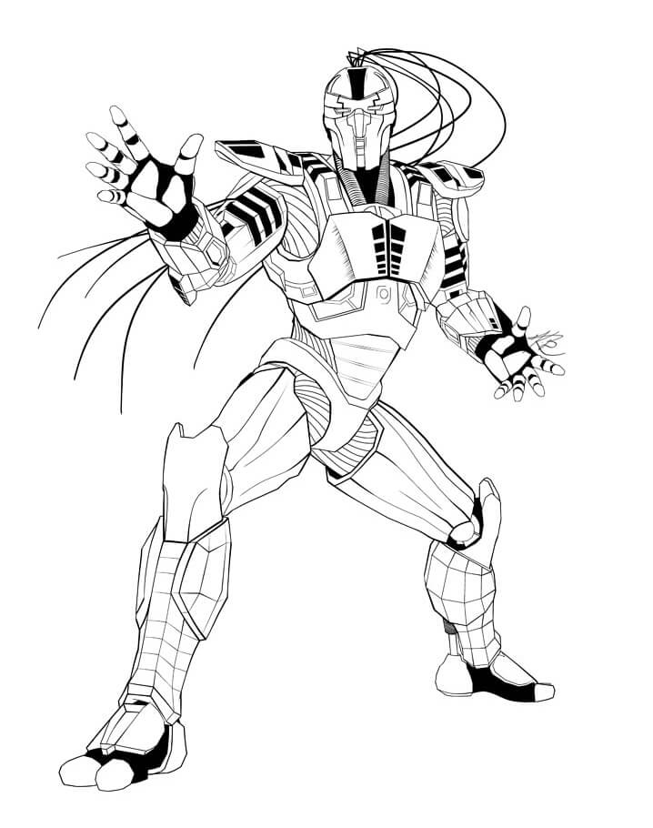 Desenhos de Sektor Mortal Kombat para colorir