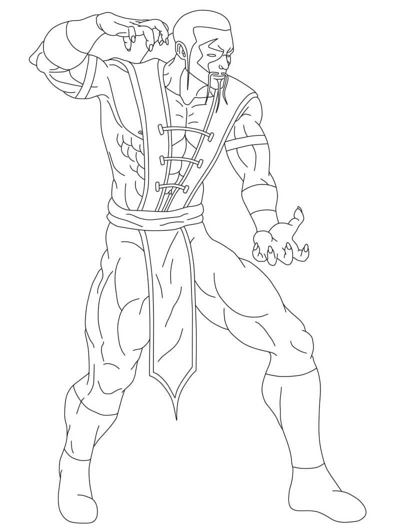 Desenhos de Shang Tsung Mortal Kombat para colorir