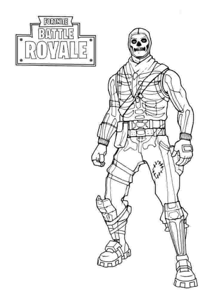 Desenhos de Skull Trooper Fortnite para colorir