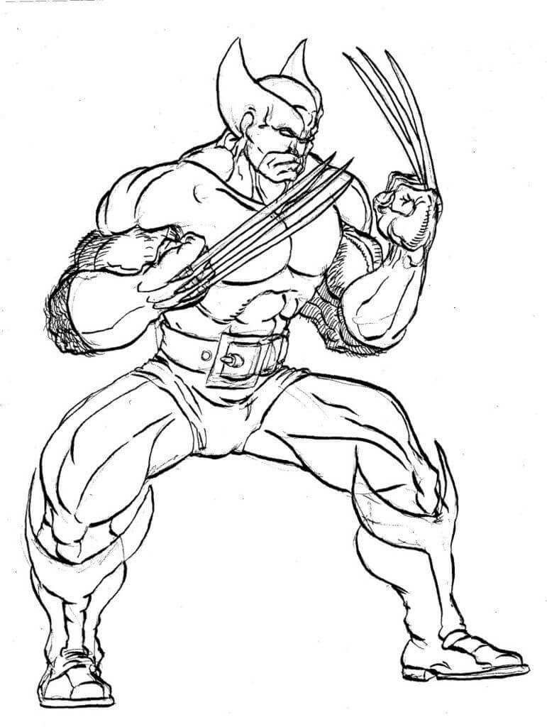 Desenhos de Wolverine para Colorir
