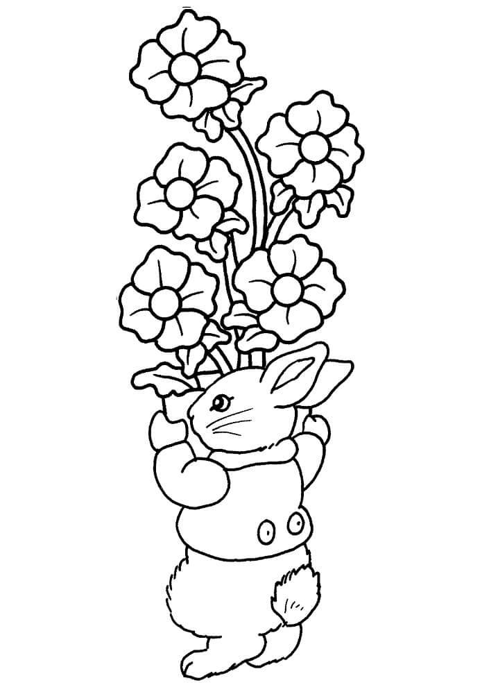 Desenhos de Adorável Coelho da Páscoa 1 para colorir
