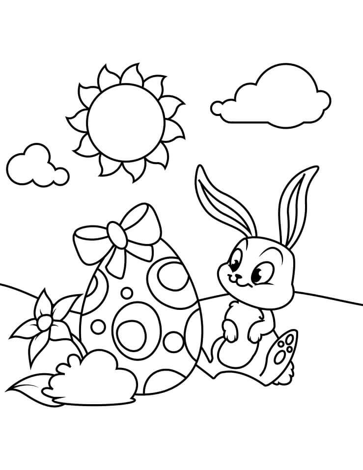 Desenhos de Adorável Coelho da Páscoa 5 para colorir