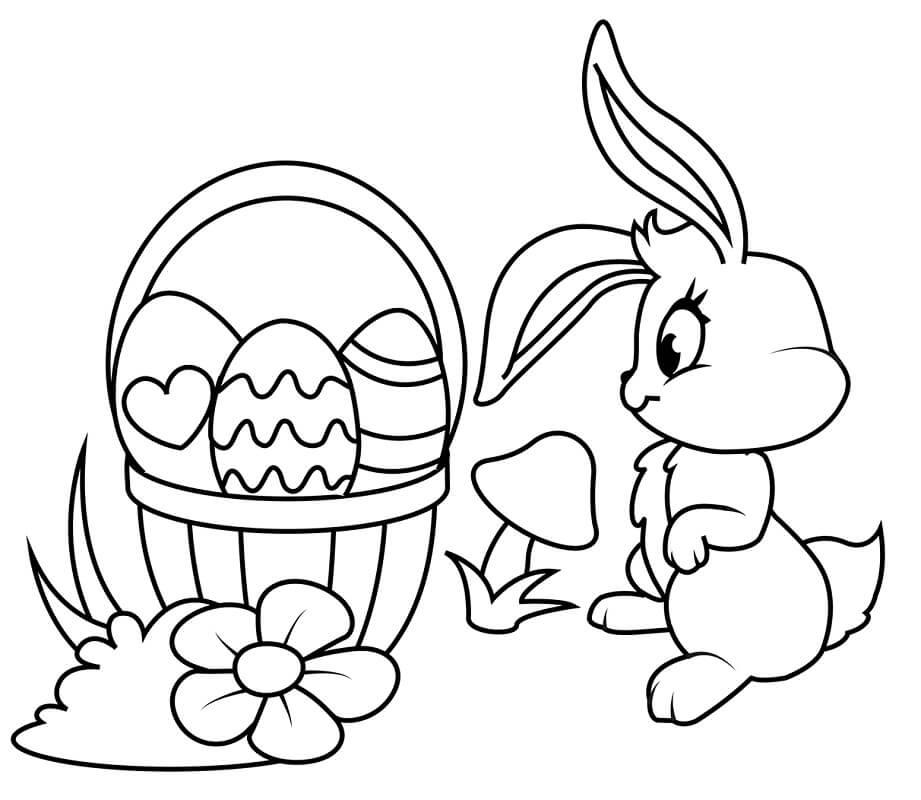 Desenhos de Coelho da Páscoa Engraçado 4 para colorir