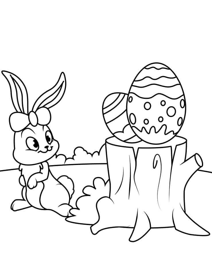 Desenhos de Coelho da Páscoa Engraçado 6 para colorir