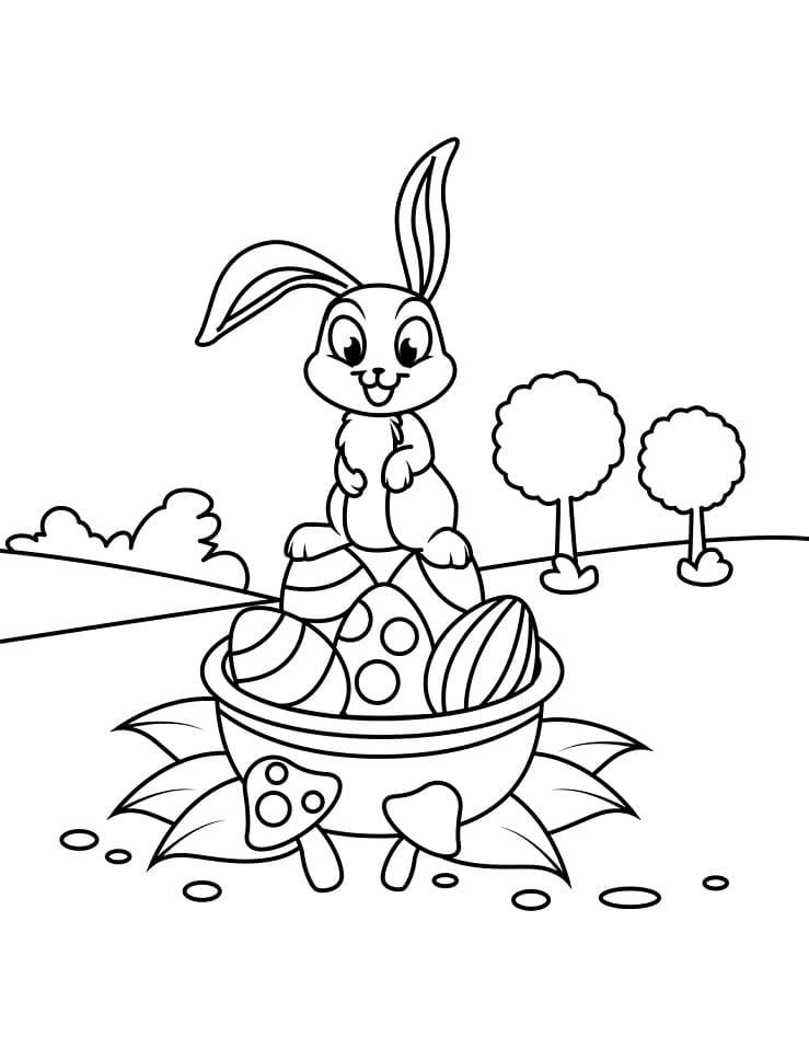 Desenhos de Coelho da Páscoa Fofa 5 para colorir