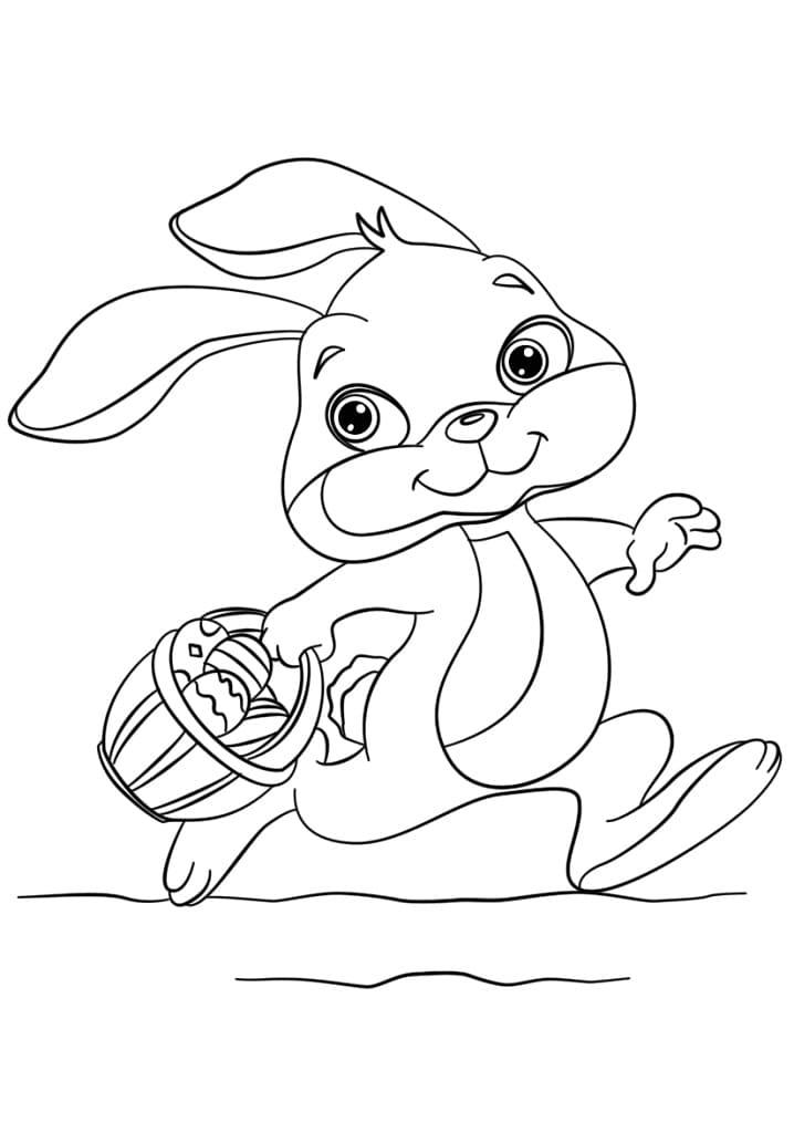 Desenhos de Coelho da Páscoa Fofa para colorir