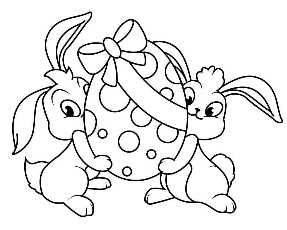 Desenhos de Coelhos da Páscoa para colorir