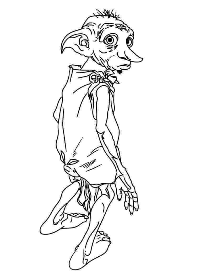 Desenhos de Dobby para colorir