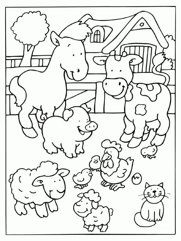 Desenhos de Fazendinha 12 para colorir