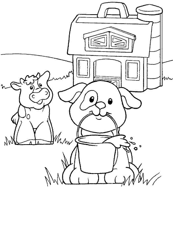 Desenhos de Fazendinha 2 para colorir