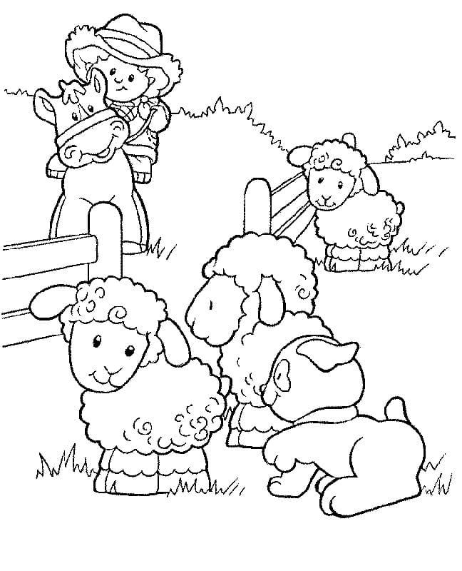 Desenhos de Fazendinha 3 para colorir
