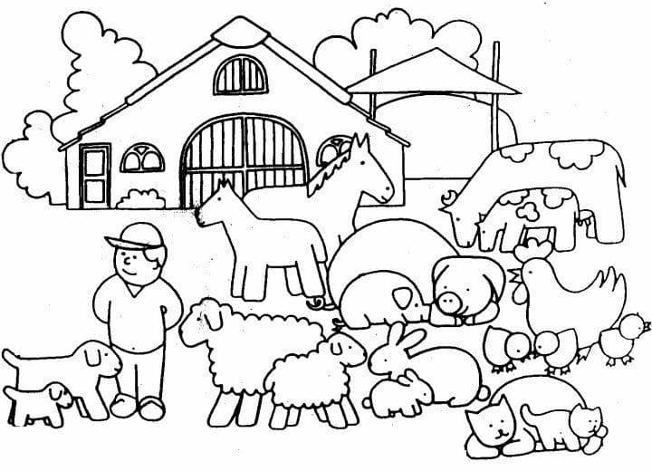 Desenhos de Fazendinha 4 para colorir