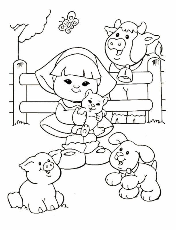 Desenhos de Fazendinha 5 para colorir