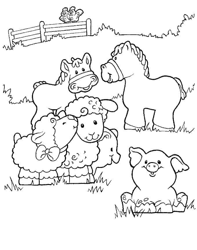 Desenhos de Fazendinha 9 para colorir