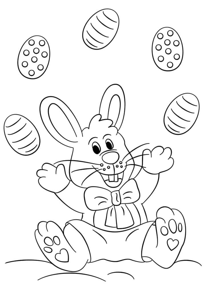 Desenhos de Feliz Coelho da Páscoa 5 para colorir