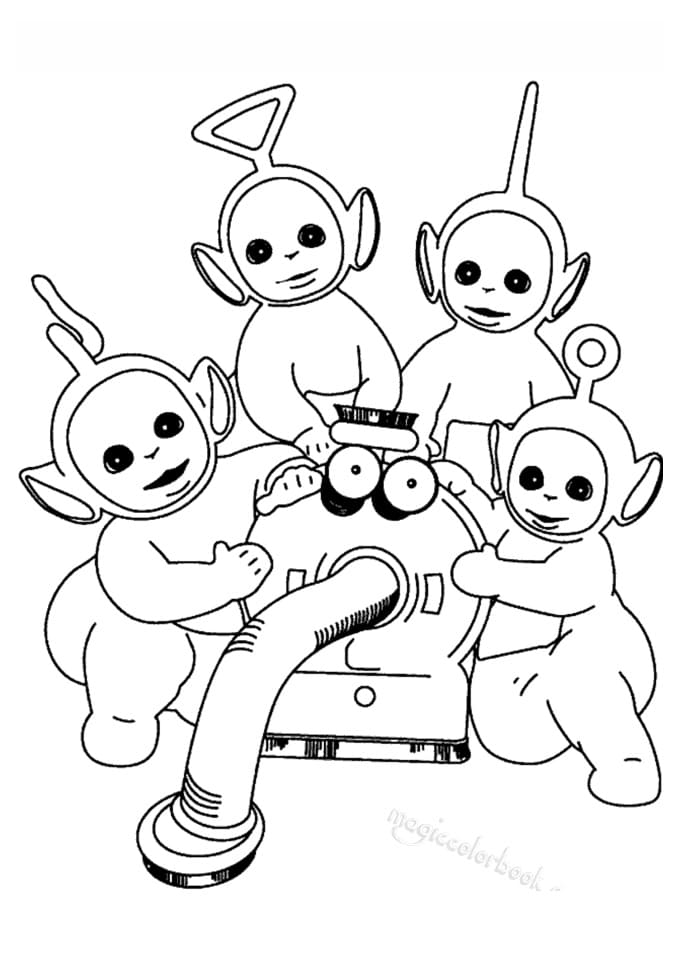 Desenhos de Felizes Teletubbies 1 para colorir