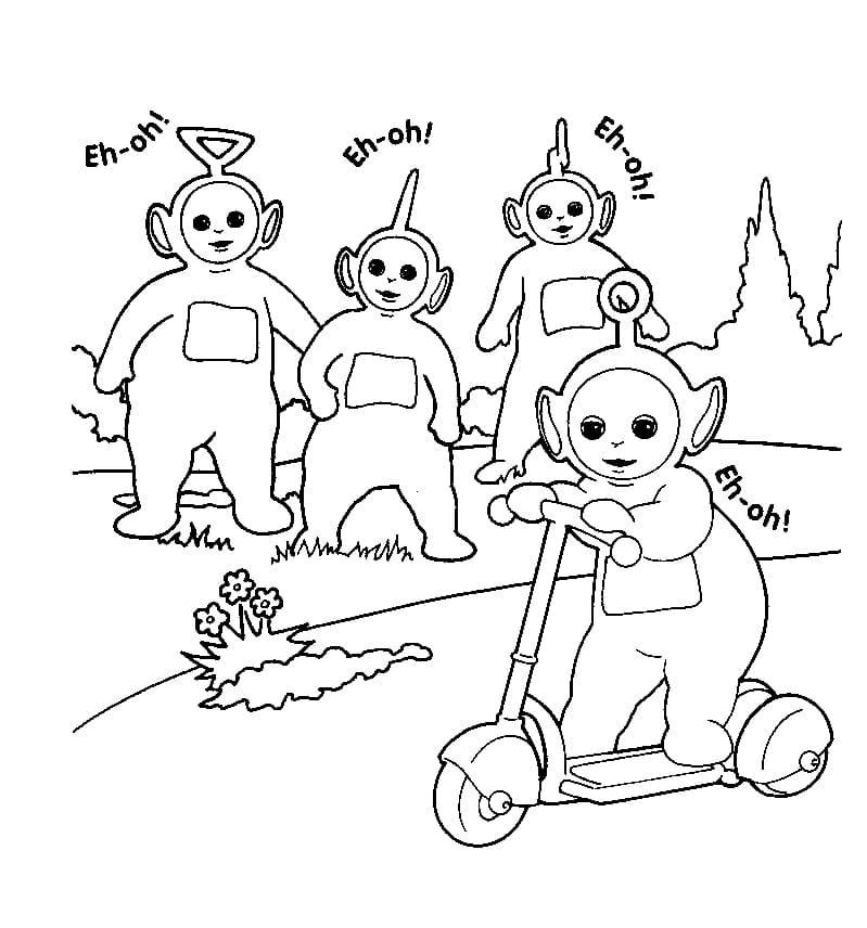 Desenhos de Felizes Teletubbies 2 para colorir