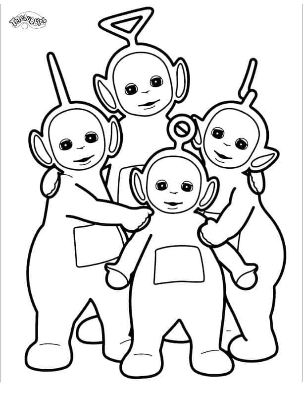 Desenhos de Felizes Teletubbies 3 para colorir