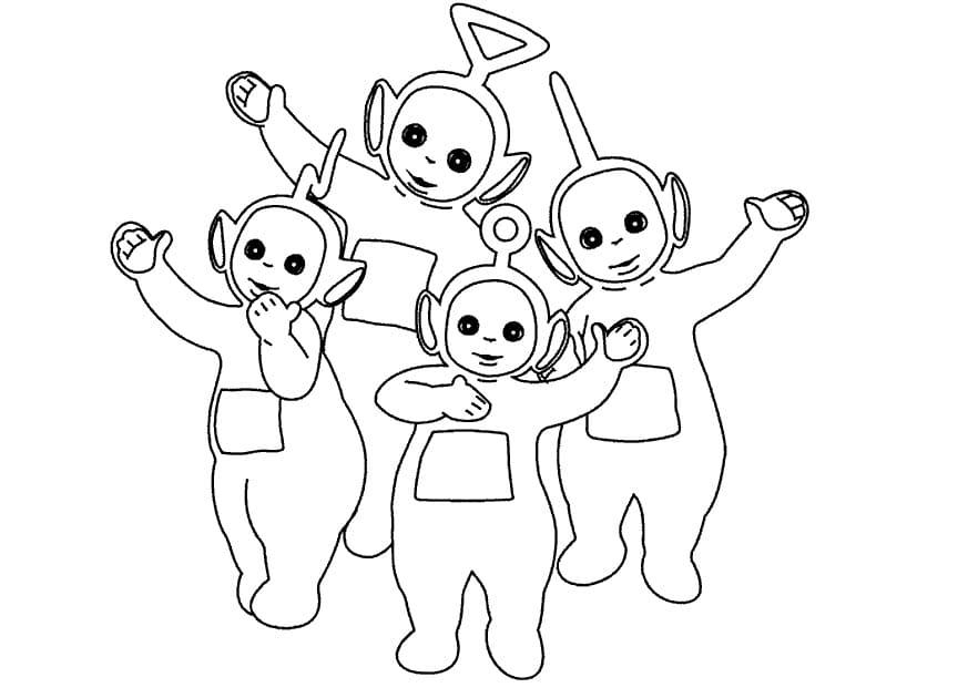 Desenhos de Felizes Teletubbies 5 para colorir