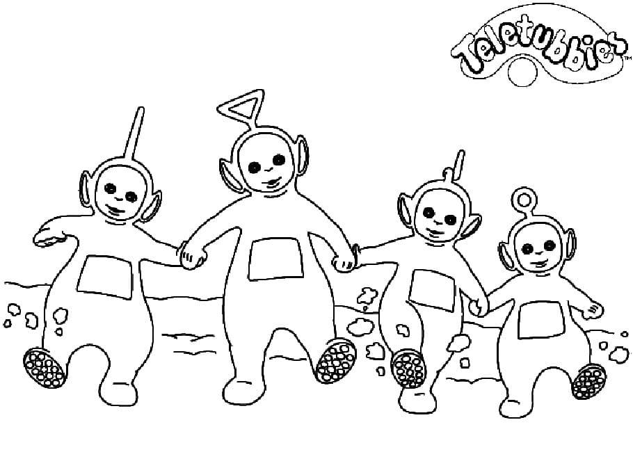 Desenhos de Felizes Teletubbies 6 para colorir