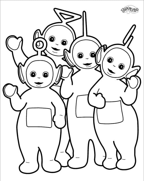 Desenhos de Felizes Teletubbies para colorir