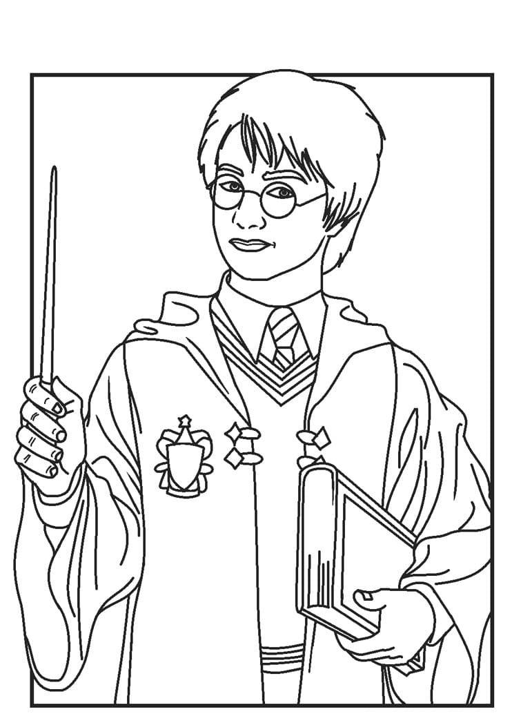 Desenhos de Harry Potter 13 para colorir